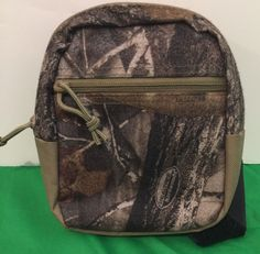 Realtree Hardwood Camouflage Hunting Bag Pouch Zippered Hook And Loop Strap in Sporting Goods, Hunting, Hunting Accessories, Hunting Bags & Packs | eBay