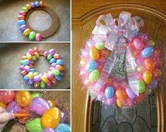 Add some spring flair to your home decor for less with these dollar store DIY easter decorations. From easter centerpieces to easter wreaths, there are plenty of cheap and easy easter decor ideas for the home. Diy Osterschmuck, Easy Diy, Simple Diy, Easter Crafts For Toddlers, Easter Ideas, Easter Recipes, Diy Easter Decorations, Easter Centerpiece, Votive Centerpieces