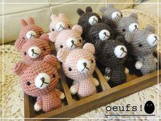 == oeufs! == かぎ針編みの雑貨たち。 あみぐるみ、増殖中(^-^;