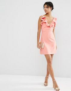 ASOS | ASOS Structured Frill A-line Mini Dress