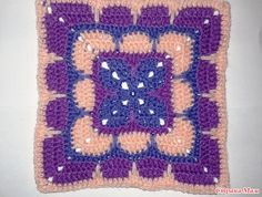 Tığ İşi Kare Motif Yapımı Anlatımlı - Mimuu.com Crochet Bebe, Crochet Projects, Diy And Crafts, Crochet Patterns, Blanket, Knitting, Macrame, Square Patterns, Round Shag Rug