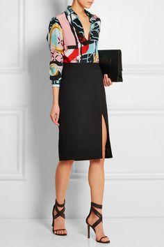 Versace|Printed silk crepe de chine shirt |NET-A-PORTER.COM