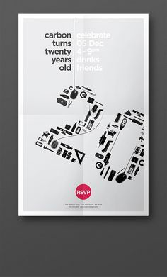 20th Anniversary Poster for Carbon Design Group