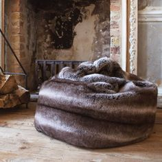 A sumptuously soft beanbag with a faux chincilla design, filled with polystyrene beads and featuring a convinient carry handle. Bespoke Sofas, 1930s House, Buy Sofa, Chinchilla, Bean Bag, Graham, Home Accessories, Blanket, Green
