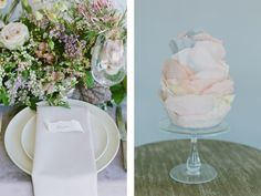 La Tavola Fine Linen Rental: Velvet Rose with Aurora Mauve Table Runner and Topaz Parchment Napkins | Photography: Michele Beckwith, Styling & Planning: Erica Estrada Design, Floral: Seascape Flowers, Rentals: Revival Rentals, Chairs: Found Rentals