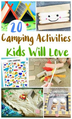 If you're like me though and not a huge camper, that's OK. This list of camping activities is more about thinking about camping than anything. - Fun Activities for Kids - Camping World Camping Bedarf, Indoor Camping, Retro Camping, Family Camping, Camping Ideas, Camping Hacks, Camping Checklist, Family Trips, Kids Checklist