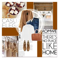 """""""Romwe"""" by lucky-1990 ❤ liked on Polyvore featuring moda, Hudson Jeans, J.Crew y H&M"""