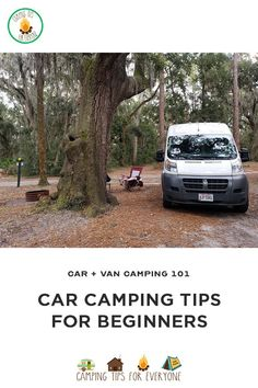 Car camping, or van camping, is quickly becoming a popular alternative to RV travel. Car camping tips to help you get on the road safely. Camping 101, Van Camping, First Time Camping, Camping For Beginners, Women Camping, Camping Hammock, Camping With Toddlers, Celebrity Travel, Campsite