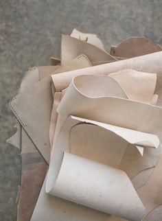 Creamy #leather swatches. {Follow @Jess Liu Grinsteinner Barley on Twitter & Instagram}