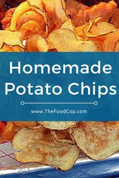 These healthy homemade potato chips taste great & only take a few minutes to make. Click to get the recipe.