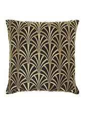 Biba Fan Embroidered Cushion, Black New From House Of Fraser