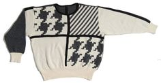 Siirry tuotteeseen - mustavalkoinen vintage villapaita