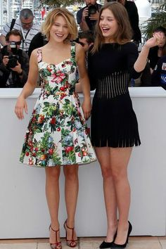 Lea Seydoux - Dolce & Gabbana et Adele Exarchopoulos - Alaïa