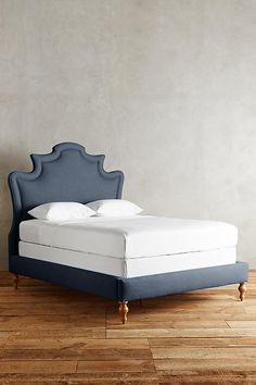 BED FRAME   linen ainsworth bed { anthropologie }