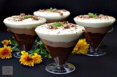 Trio de ciocolata la pahar - CAIETUL CU RETETE Panna Cotta, I Foods, Dessert Recipes, Food And Drink, Pudding, Sweets, Snacks, Baking, Breakfast