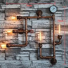 Coquimbo Vintage Retro Water Light Retro Industrial Wall Lights Decor Wall Light without Lamp: Amazon.de: Beleuchtung