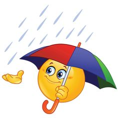 Emoticon with umbrella. Design of an emoticon holding an umbrella royalty free illustration Symbols Emoticons, Funny Emoticons, Emoji Symbols, Funny Emoji, Smiley Symbols, Smiley Emoji, Images Emoji, Emoji Pictures, Emoticon Faces