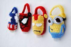 Crochet Mask, Crochet Cozy, Crochet Gifts, Crochet Penguin, Minion Crochet, Spiderman Hand, Crochet Pencil Case, Birthday Gifts For Boys, Boy Birthday