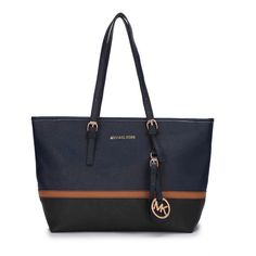 Our Michael Kors Jet Set Travel Large Navy Totes Lets You Become A Eye-Catching Person!