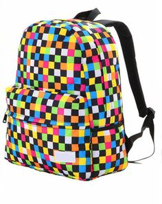 Colorful Raibow Backpack Bag on Luulla Cool School Bags, Color Illusions, Cute Backpacks, Backpack Bags, Purses And Handbags, Fashion Bags, Spring Summer Fashion, Cool Stuff, Stuff To Buy