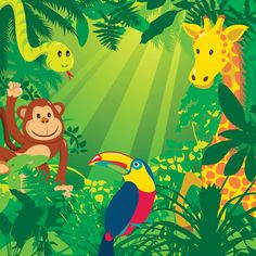 Vector jungle animals GraphixShare A picture. I like this picture and these colors
