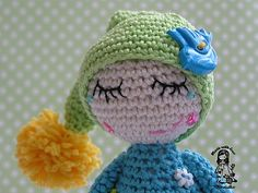 Crochet elf with dew drops on the lashes - pdf pattern