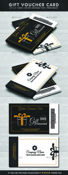 Multi Use Business Gift Voucher | Authors, Template and Business
