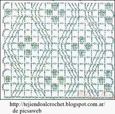 PADRÕES - Crochê - Crochê - Gráficos: PONTOS A malha crochet MUITO BONITO