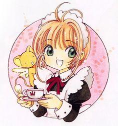 CLAMP, Cardcaptor Sakura, Kero-chan, Kinomoto Sakura, Cup, Circle Background