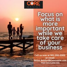 Focus on your business. Let our team handle the support. Call us now at 901-350-0302 or email Brian.Bouler@CoreAssist.com and learn more of what CoreAssist can do for you. #remoteteammember #remotework #startupbusiness #remoteworkforce #remoteteams #smallbusinessowner #startupgrowth #businessgrowth #hireremote #remotestaff