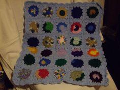 crocheted Granny Square Doll Blanket by crochetbysandi on Etsy, $15.00
