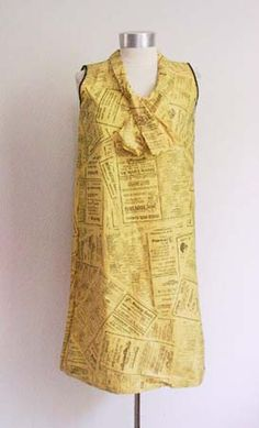 I had this 1960's Yellow Pages Paper Dress