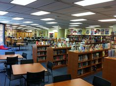 awesome library site! wow! I love the promoting books throughout the building idea!!!!