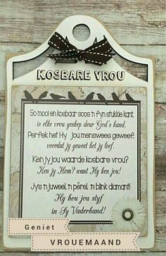 Bible Quotes For Women, Woman Quotes, Nurses Prayer, Goeie More, Special Quotes, Afrikaans, Ladies Day, Special Day, Verses