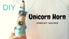 DIY Homemade Clay Craft : Unicorn Horn Jewelry Organizer with Salt Dough...