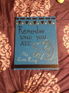 the lion king canvas diy