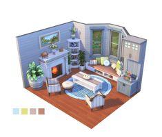 Sims 4 House Plans, Sims 4 House Building, Sims 4 Loft, Casas The Sims Freeplay, Muebles Sims 4 Cc, Sims 4 House Design, Sims 4 Bedroom, Casas The Sims 4, Sims Four