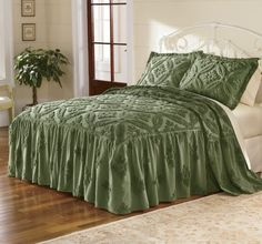 Kathryn Chenille Bedspread & Sham from Through the Country Door® | CX47729