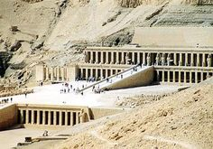 Movies shot at Egypt > Luxor > The Mortuary Temple of Hatshepsut. Ancient Egyptian Religion, Egyptian Mythology, Maya Tempel, Luxor Temple, Valley Of The Kings, Ap Art, Travel Memories, Gods And Goddesses, Cairo