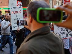 """No shooting at protest? Police may block mobile devices via Apple http://rt.com/news/apple-patent-transmission-block-408/  Apple has patented a piece of technology which would allow government and police to block transmission of information, including video and photographs, from any public gathering or venue they deem """"sensitive"""", and """"protected from externalities."""""""