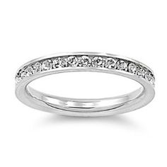 #7: 316L Stainless Steel Eternity CZ Wedding Band Ring 3mm Sz 3-10; Comes With FREE Velour Pouch And Gift Box