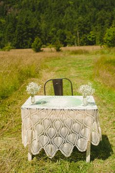 Vintage tablecloth for register table