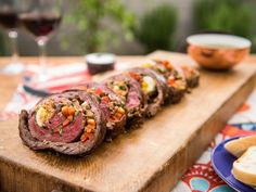 Matambre with Chimichurri Sauce // Mouthwatering Grilled Main Dishes : Food Network Beef Dishes, Food Dishes, Main Dishes, Sauce Recipes, Beef Recipes, Cooking Recipes, Grilling Recipes, Healthy Recipes, Chicken Recipes