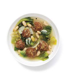 Lemon Meatball and Escarole Soup Recipe