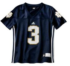 Notre Dame Fighting Irish #3 Women Fashion Football Jersey-Navy  Starting at: was $50.00 NOW  $24.99