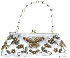 Beaded Butterfly Clutch Purses in Assorted Colors