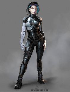 ArtStation - Cyberpunk armor design, Ian Llanas