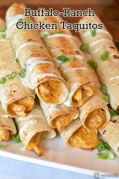 New Year's Buffalo-Ranch Chicken Taquitos
