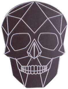 SKULL POCKET MIRROR Make sure your hair & makeup are always in line with a handy pocket mirror! This geometric skull mirror can easily fit in a purse or just have it sitting on your vanity. $4.00