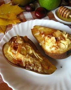 Pieczone gruszki z ricottą i migdałami - idealny jesienny ...